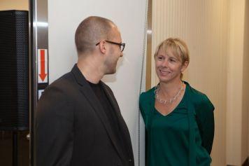 Panelists Daniel Hundt with Moni Wolf | © 2011 Philipp Weitz Photography