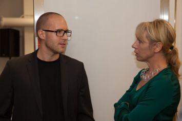 Panelist Daniel Hundt with Moni Wolf | © 2011 Philipp Weitz Photography