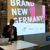 "State Secretary Stefan Kapferer opening the ""Brand New Germany"" exhibition at BODW 2011"