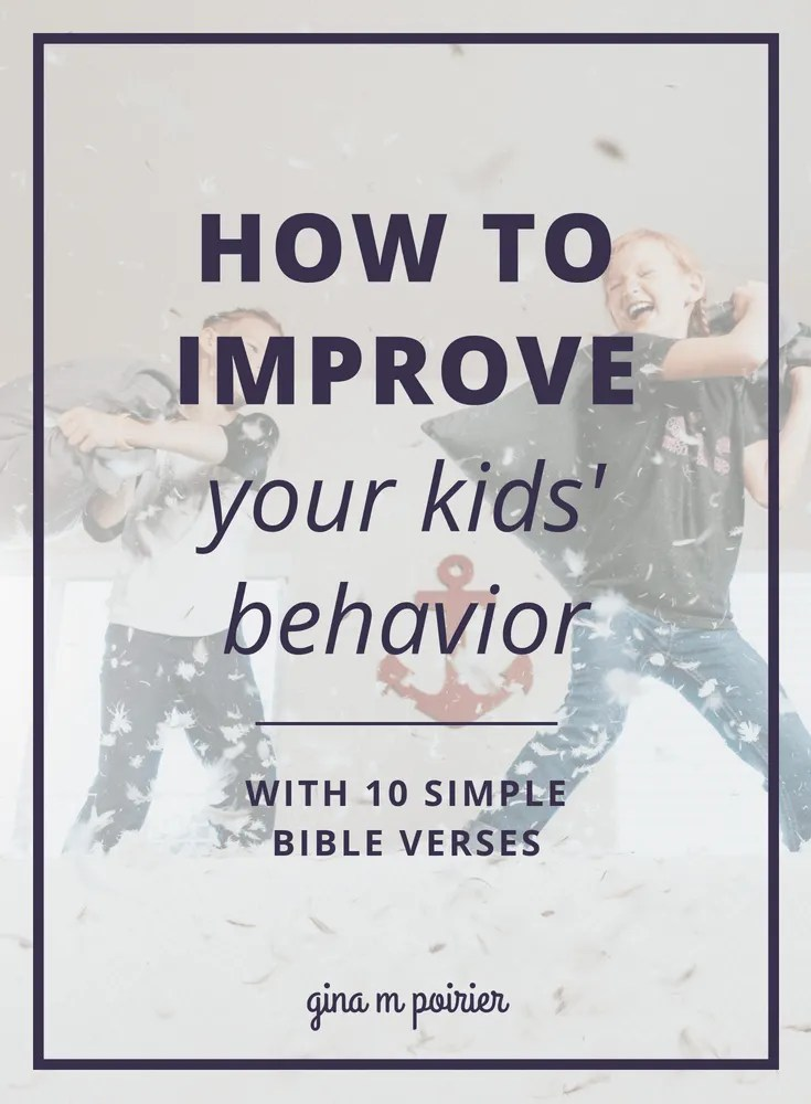 When I'm frustrated with how to deal with my kids' behavior issues, that's a sign I need to turn to the Bible for help! These Bible verses for kids have helped my kiddos as well as my parenting, so I created a free printable of them.