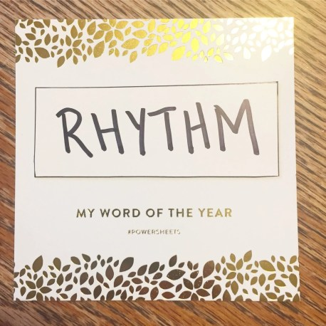 Word of the Year: RHYTHM