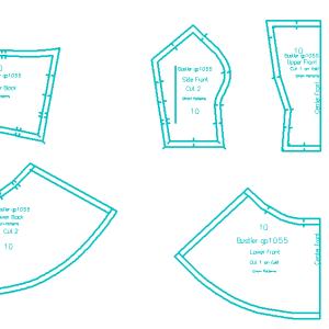 Peplum Bustier PDF Pattern