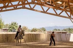 Gina Pitti Equi-Attah yoga à cheval s'ancrer dans le sol