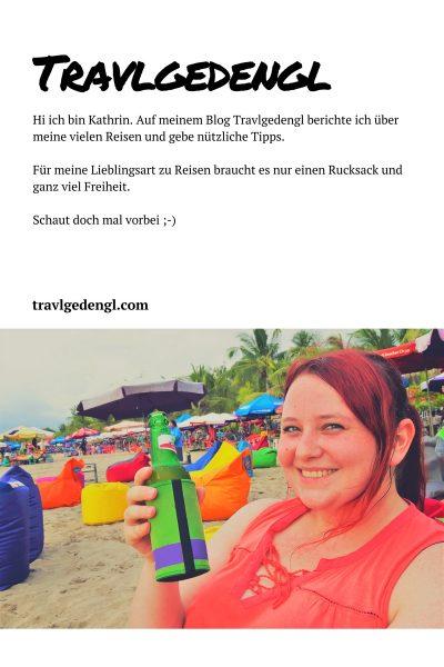 Hi ich bin Kathrin. Auf meinem Blog Travlgedengl.com berichte ich über meine vielen Reisen und gebe nützliche Tipps. Für meine Lieblingsart zu Reisen braucht es nur einen Rucksack und ganz viel Freiheit. Schaut doch mal vorbei.