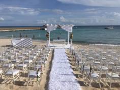 Hochzeit am Strand Dominikanische Republic Iberostar Hacienda Dominicus Heiratsantrag und Hochzeit im Ausland www.gindeslebens.com