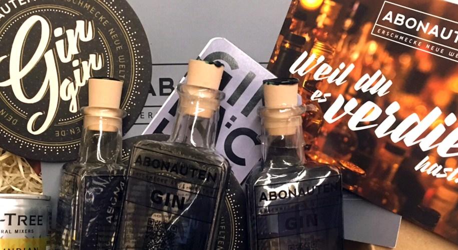 Unboxing Abonauten Gin Box Oktober 2017 www.gindeslebens.com