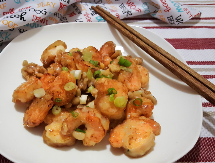 Honey Walnut Pine Nut Shrimp