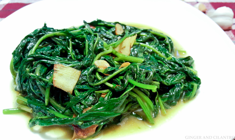 Easy Water Spinach 空心菜 (Kangkung)