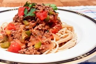 Whole Wheat Spaghetti Meat Sauce