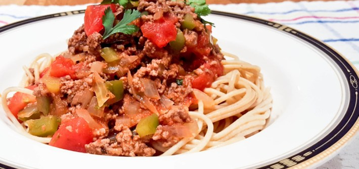 Whole Wheat Spaghetti Meat Sauce
