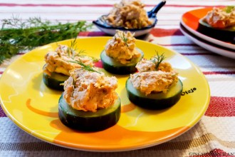St. Patrick's Deviled Cucumber Rolls
