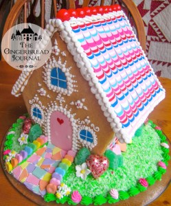 gingerbread house Valentine's Day tutorial