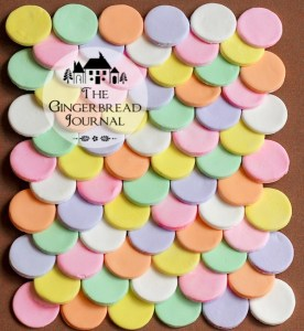 gingerbread house candy wafers tutorial