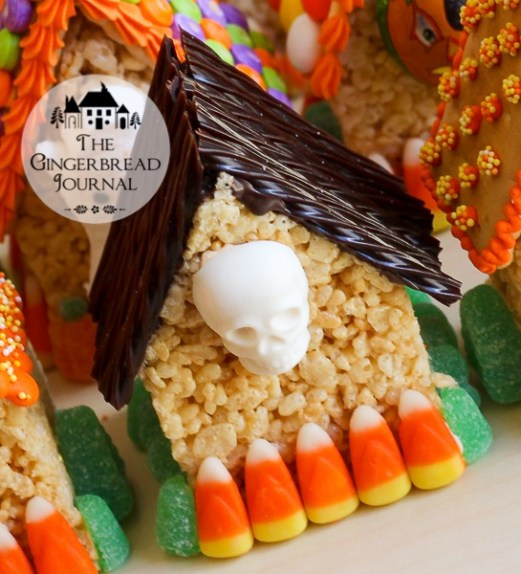 Halloween MIni Houses - Rice Krispie Treat-12wm