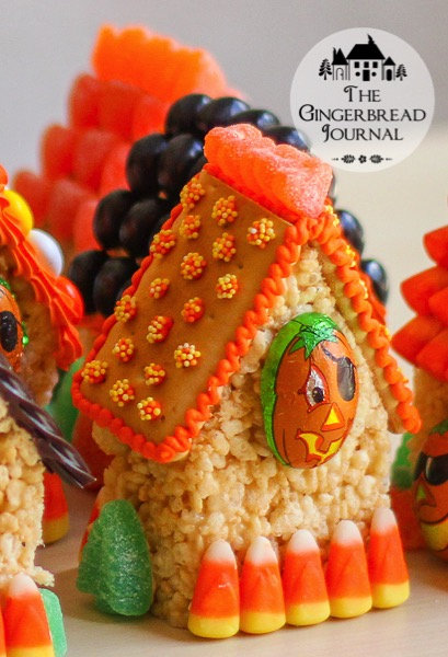 Mini Halloween Houses A No Bake Treat The Gingerbread