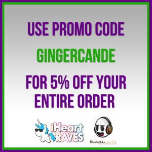 Iheartraves.com and emazinglights.com Promo Code GingerCandE
