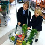 Perusing for Organic Options at the Grocery (two sons in foreground, youngest in background) (c)2013
