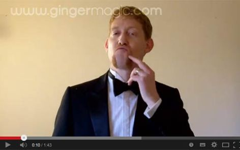 A Magic trick with the Queen of England, for Movember - GingermagicTV