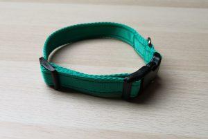 Green webbing collar