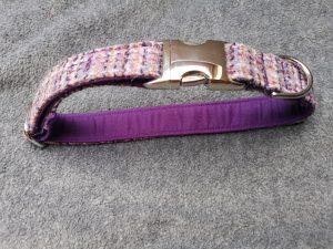 Lilac weave Harris Tweed