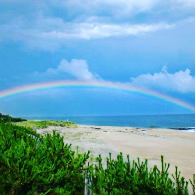 Hamptons Beach Rainbow Ocean