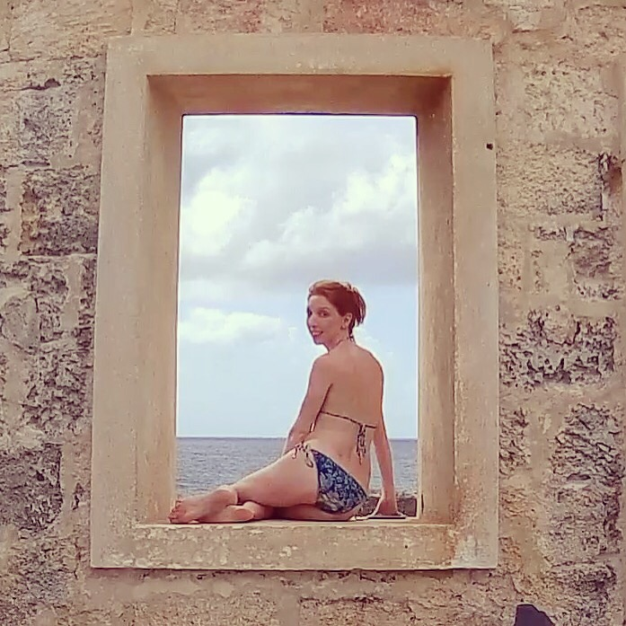 window sea cliff