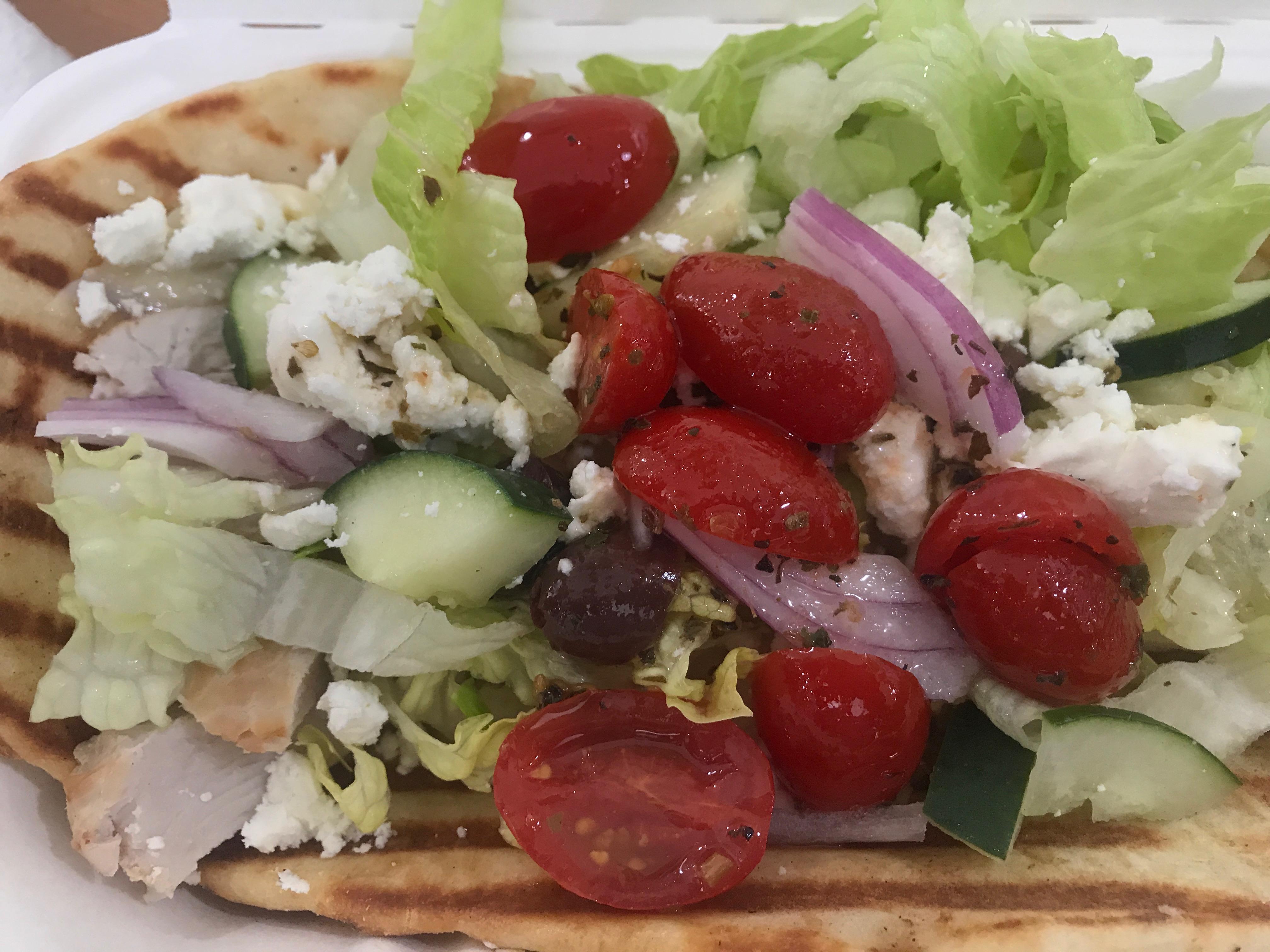 Greek Salad Persimmon Cafe Charleston