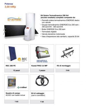 Kit fotovoltaico + termodinamico da 3 Kw