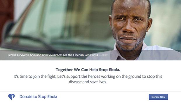 facebook campagne ebola