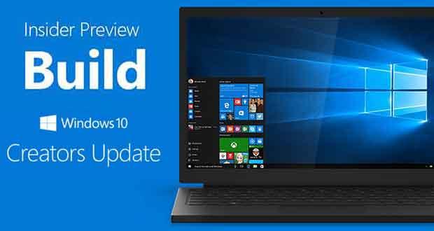 Windows 10 Creators Update - Insider Preview Build