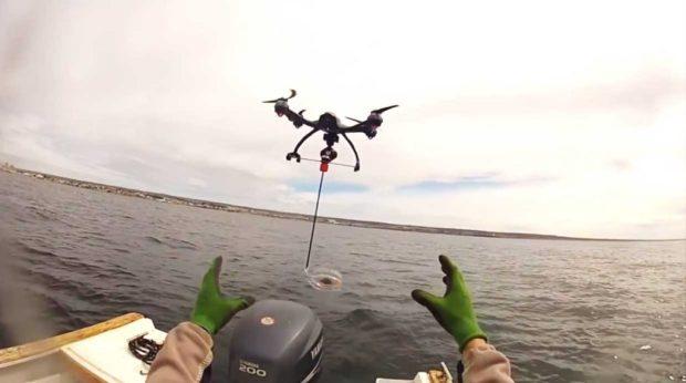 Le Drone Snotbot en action