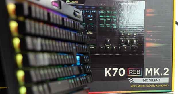 Clavier gaming K70 RGB MK.2 de Corsair