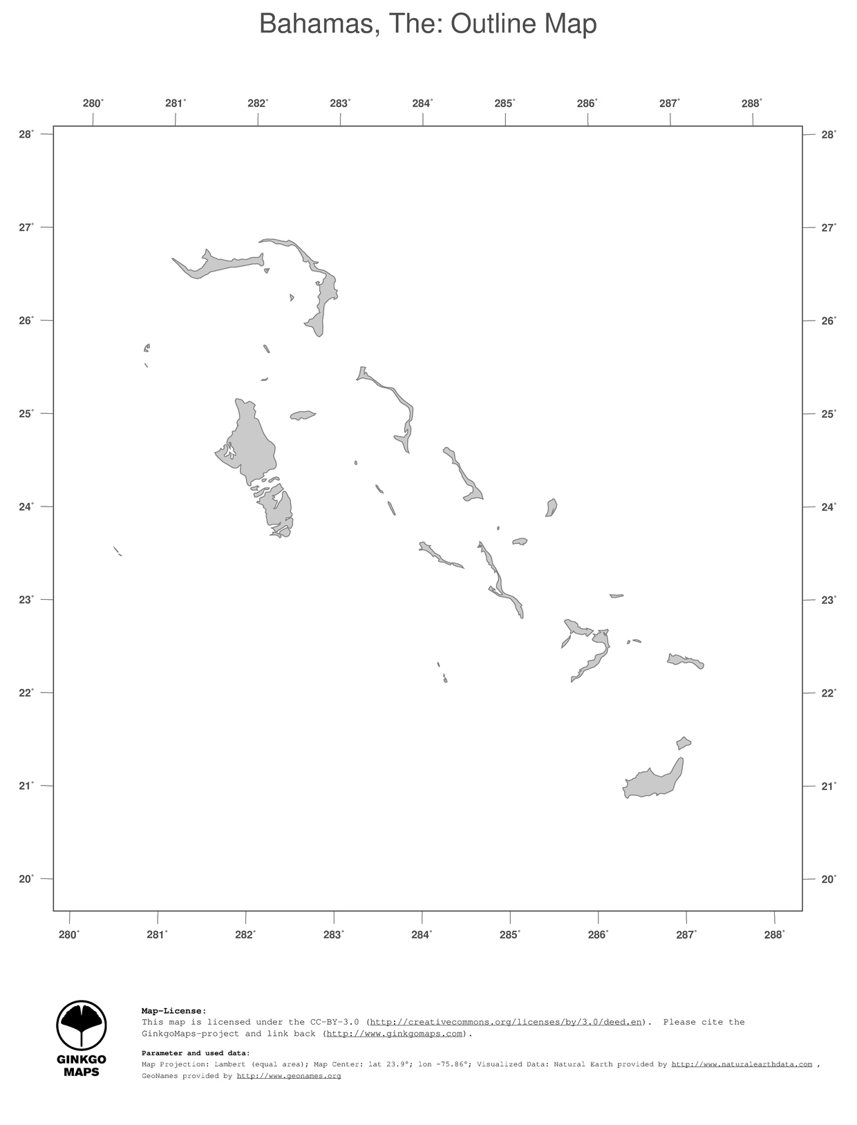 Map Bahamas The Ginkgomaps Continent South America