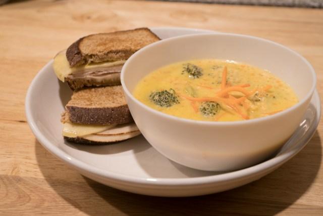 Broccoli Cheddar Soup Plated1