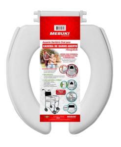 Assento sanitário oval para cadeira de banho aberto almofadado