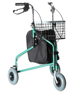Andador com 03 rodas aço Praxis Modelo-2036