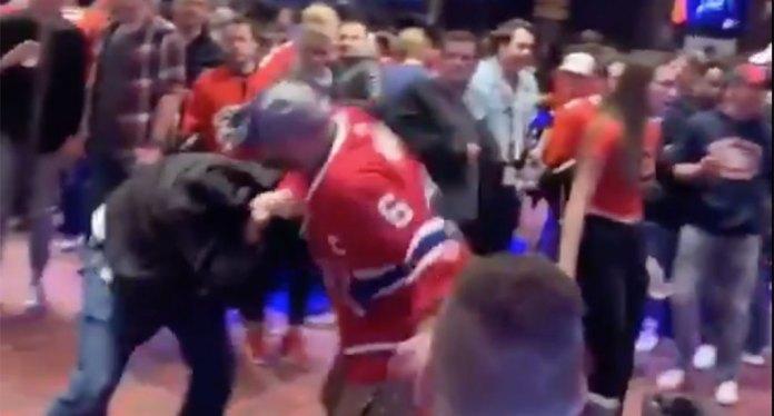 Habs fans brawl in a Calgary casino