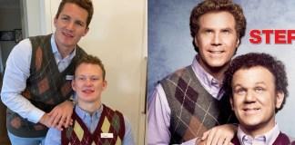 Matthew Tkachuk and Brady Tkachuk dress up Step Brothers