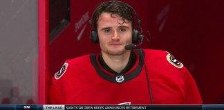 Ottawa Senators goalie Joey Daccord gives emotional post-game interview