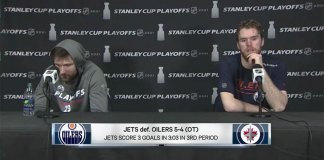 Connor McDavid and Leon Draisaitl post-game interview after Game 3