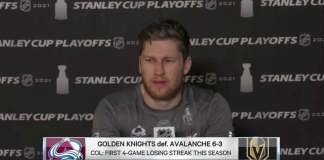 Nathan MacKinnon frustrated press conference