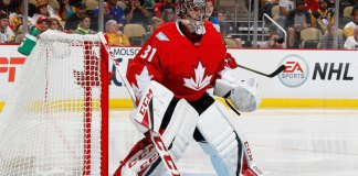 Carey Price plays for Team Canada at the World Cup