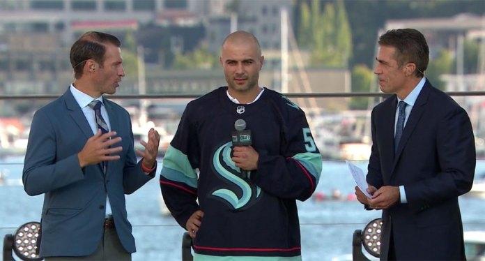 The Seattle Kraken draft Mark Giordano from the Calgary Flames