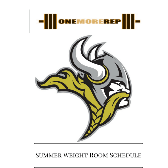 Summer Weight Room Schedule