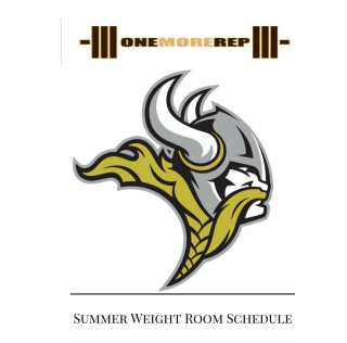 2018 Summer Weight Room Schedule