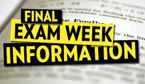 High School 2nd Semester Exam Schedule