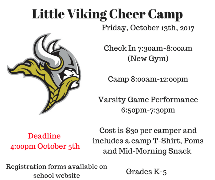 Little Viking Cheer Camp