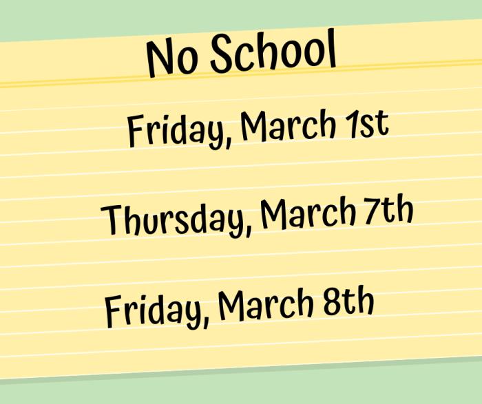 NWHS No School
