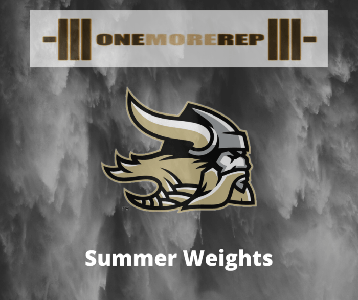 2020 Summer Weights Information