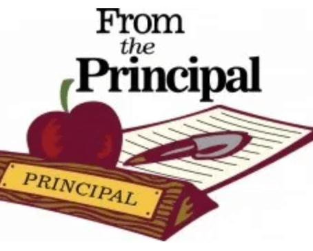 Note From the Principal Desk Sept. 2020